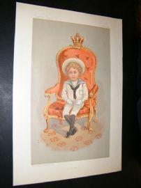 Vanity Fair Print 1893 The King of Spain, Royal